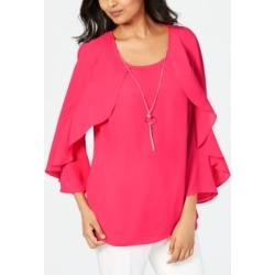 Jm Collection Petite Ruffle Necklace Top, Created for Macy's found on Bargain Bro India from Macys CA for $28.56