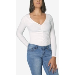 Polly & Esther Juniors' Ruched-Front Bodysuit found on MODAPINS from Macy's for USD $12.99