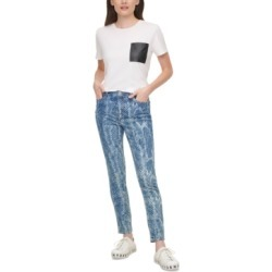 Dkny Jeans Snake Print Skinny Jeans found on MODAPINS from Macy's for USD $53.40