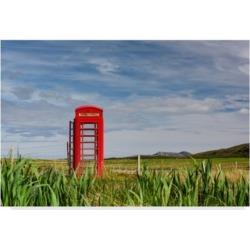 "Michael Blanchette Photography 'Pastoral Phone Box' Canvas Art - 19"" x 12"" x 2"""