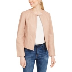 Cole Haan Seamed Leather Jacket found on MODAPINS from Macy's Australia for USD $290.04