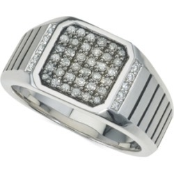 Esquire Men's Jewelry Diamond Ring (1/2 ct. t.w.) in Sterling Silver, Created for Macy's