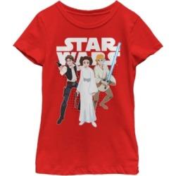 Fifth Sun Star Wars Big Girl's Galaxy of Adventures Han Leia Luke G1P Short Sleeve T-Shirt found on Bargain Bro India from Macys CA for $23.08