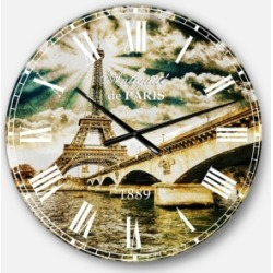 Designart Cityscape Photo Oversized Round Metal Wall Clock found on Bargain Bro India from Macys CA for $147.61
