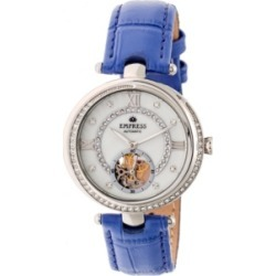 Empress Stella Automatic Purple Leather Watch 39mm found on Bargain Bro India from Macy's for $225.99