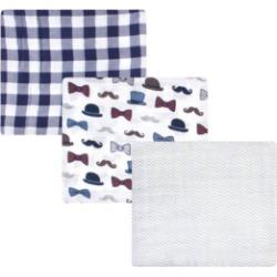 Baby Boys 3 Piece Cotton Muslin Swaddle Blankets