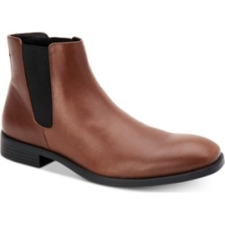 Calvin Klein Men's Corin Leather Chelsea Boots Men's Shoes
