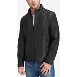 Marc New York Men's Convertible Collar Leather Jacket found on MODAPINS from Macy's for USD $311.99