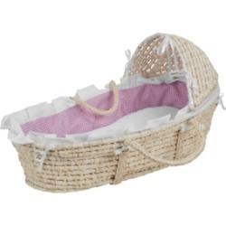 Badger Basket Natural Moses Basket with Hood