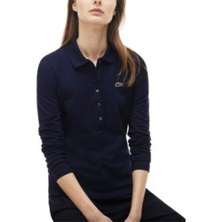 Lacoste Long-Sleeve Slim-Fit Stretch Pique Polo Shirt found on MODAPINS from Macy's for USD $99.50