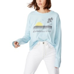 Cotton On Relaxed Fit Graphic Long Sleeve T-Shirt found on MODAPINS from Macy's for USD $19.99