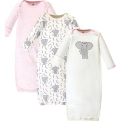 Touched By Nature Baby Girl Gowns, Set of 3