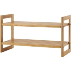 Trinity Bamboo Shoe Rack, Pack of 2