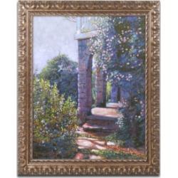 David Lloyd Glover 'Climbing Roses' Ornate Framed Art - 16