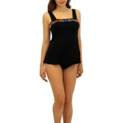 Fit 4 U Folkloric Square Neck Top Women's Swimsuit