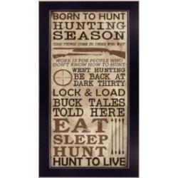 "Trendy Decor 4U Hunting Season By Dee Dee, Printed Wall Art, Ready to hang, Black Frame, 11"" x 20"""