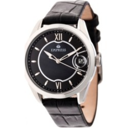 Empress Messalina Automatic Black Leather Watch 34mm found on Bargain Bro India from Macy's for $319.99