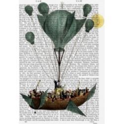 Fab Funky Diligenza Per La Luna Air Balloon Canvas Art - 19.5