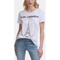 Karl Lagerfeld Sequin Eiffel Tower Tee found on MODAPINS from Macy's for USD $49.50