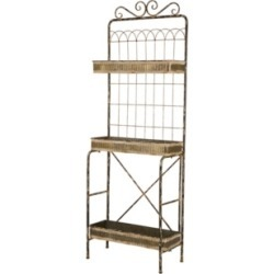 Glitzhome Farmhouse Metal Shelf found on Bargain Bro Philippines from Macy's for $231.99