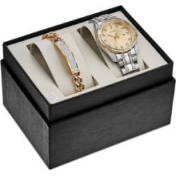 Bulova Men's Two-Tone Stainless Steel Bracelet Watch 42mm Gift Set