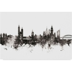 Michael Tompsett Krakow Poland Skyline Black White Canvas Art - 20