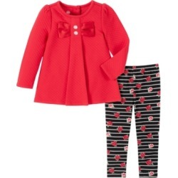 Kids Headquarters Baby Girls Quilted Tunic Stripe Rose Printed Legging Set found on Bargain Bro India from Macy's for $22.80
