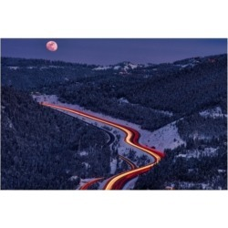 Darren White Photography Moonlight on the Mountains Canvas Art - 19.5