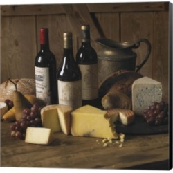 Wine And Cheese 2 by Carlos Casamayor Canvas Art