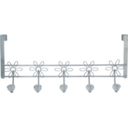 Simplify Crystal Daisy Over The Door Hook Rack