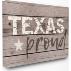 Stupell Industries Texas Proud Typography Lone Star Canvas Wall Art, 16