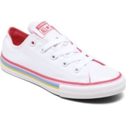 Converse Little Girls Chuck Taylor All Star Multi-Stripe Casual Sneakers from Finish Line found on MODAPINS from Macy's for USD $35.00