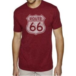 La Pop Art Mens Premium Blend Word Art T-Shirt - Route 66