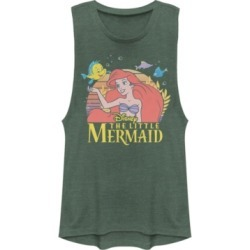 Disney Juniors' Princesses Little Mermaid Title Festival Muscle Tank Top