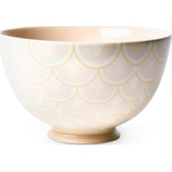 """Coton Colors by Laura Johnson Blush Layered Arabesque 9"""" Footed Bowl"""