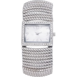 Charter Club Women's Stretch Silver-Tone Bracelet Watch 42mm, Created for Macy's found on Bargain Bro India from Macy's for $28.12