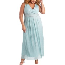 R & M Richards Plus Size Metallic Gown found on Bargain Bro from Macy's Australia for USD $119.41