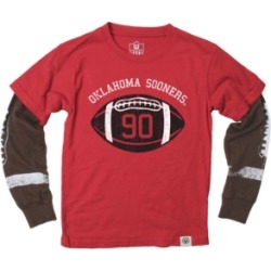 Wes & Willy Oklahoma Sooners Football Sleeve 2 In 1 T-Shirt, Infants (12-24 Months)