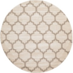 Bridgeport Home Arbor Arb1 Beige/Tan 6' x 6' Round Area Rug found on Bargain Bro India from Macy's for $100.50