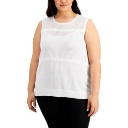 Calvin Klein Plus Size Sleeveless Sweater found on Bargain Bro India from Macy's for $59.62