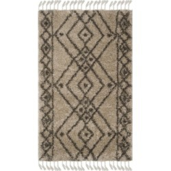 Safavieh Moroccan Fringe Shag Mushroom and Gray 3' X 5' Area Rug found on Bargain Bro from Macy's for USD $182.40