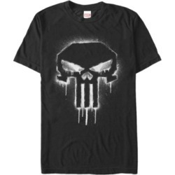 Marvel Men's Punisher The Punisher Spray Paint Skull Logo Short Sleeve T-Shirt