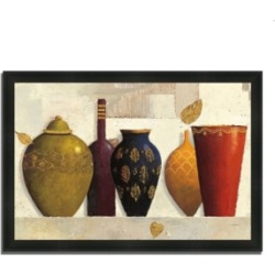 Tangletown Fine Art Jeweled Vessels by James Wiens Framed Painting Print, 39