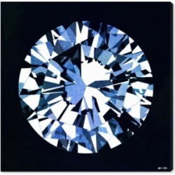 """Oliver Gal Diamonds Are Forever Canvas Art, 24"""" x 24"""""""