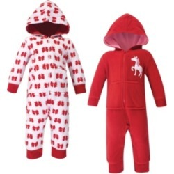 Hudson Baby Girl and Boy Fleece Union Suits 2 Pack found on Bargain Bro India from Macy's for $32.99