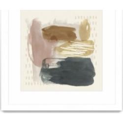 "Giant Art Ochre Echo Iv Matted and Framed Art Print, 36"" x 36"""