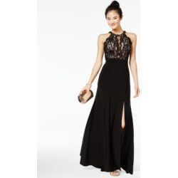 Morgan & Company Juniors' Sequined Lace & Solid Gown found on MODAPINS from Macy's for USD $109.00