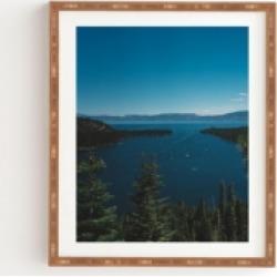 Deny Designs Lake Tahoe Vi Framed Wall Art