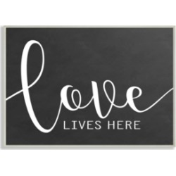Stupell Industries Love Lives Here Wall Plaque Art, 12.5