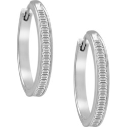 Diamond Hoop Earrings in Sterling Silver (1 ct. t.w.) found on Bargain Bro India from Macy's Australia for $1258.91